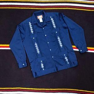 90s Mexican Latin Wedding Salsa Western Shirt Sz M